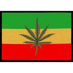Generic Standard Patch: Rasta Leaf Flag (Loose)