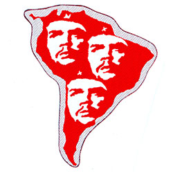 Che Guevara Standard Patch: South America Cut Out (Loose)