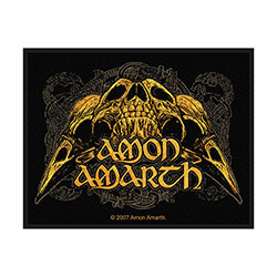 Amon Amarth Standard Patch: Raven Skull (Loose)