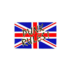 Generic Standard Patch: Union Jack/Punk Rules (Loose)