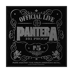 Pantera Standard Patch: 101% Proof (Retail Pack)