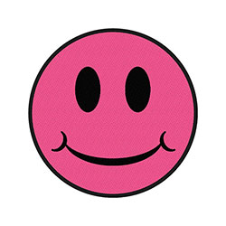 Generic Standard Patch: Pink Smiley (Loose)
