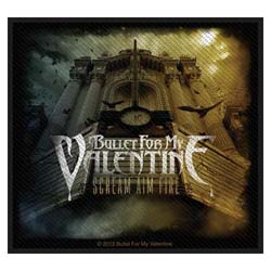 Bullet For My Valentine Standard Patch: Scream Aim Fire (Loose)