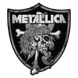 Metallica Standard Patch: Raiders Skull (Loose)