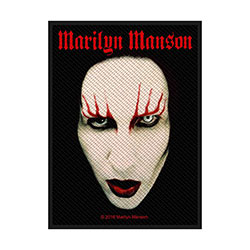 Marilyn Manson Standard Patch: Face (Loose)