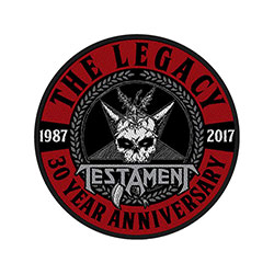 Testament Standard Patch: The Legacy 30 Year Anniversary (Loose)