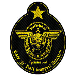 Motorhead Standard Patch: Support Division Cut-Out (Loose)