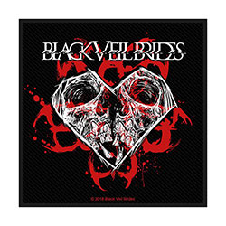 Black Veil Brides Standard Patch: Skull & Heart (Retail Pack)