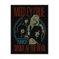 Motley Crue Standard Patch: Shout at the Devil (Loose)