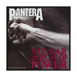 Pantera Standard Patch: Vulgar Display Of Power (Retail Pack)