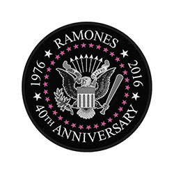 Ramones Standard Patch: 40th Anniversary (Retail Pack)
