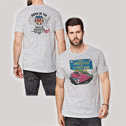 Bruce Springsteen Unisex Tee: Pink Cadillac (Back Print)