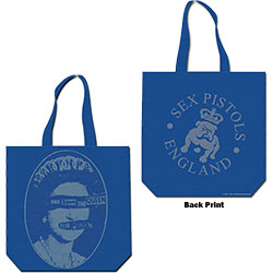 The Sex Pistols Cotton Tote Bag: God Save the Queen (with zip top)