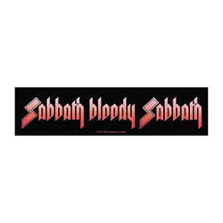 Black Sabbath Super Strip Patch: Sabbath Bloody Sabbath