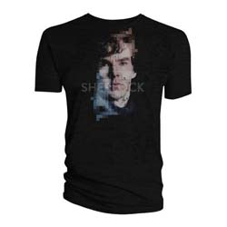 Sherlock Ladies Tee: Sherlock Pixelated