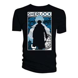 Sherlock Ladies Tee: Silhouette City