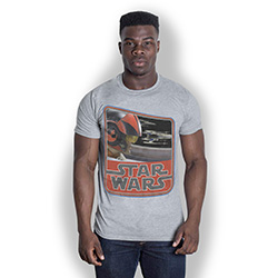 Star Wars Unisex Tee: Episode VII Dameron Vintage