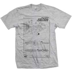 Star Wars Men's Tee: Episode VII Millennium Falcon