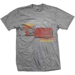Star Wars Unisex Tee: Episode VII Rey Speeder Retro