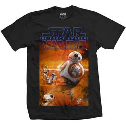 Star Wars Unisex Tee: Episode VII BB-8 Composition