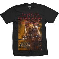 Star Wars Unisex Tee: Episode VII Chewbacca Composition