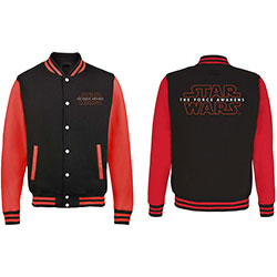 Star Wars Men's Varsity Jacket: Episode VII Logo with Back Printing