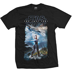 Star Wars Unisex Tee: Episode VIII Falcon Composite