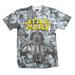 Star Wars Unisex Tee: Imperial Photo Montage (Sublimation Print)