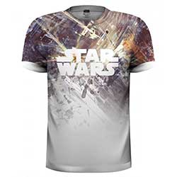 Star Wars Unisex Tee: Dogfight (Sublimation Print)