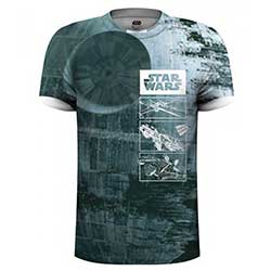 Star Wars Unisex Tee: Death Star (Sublimation Print)