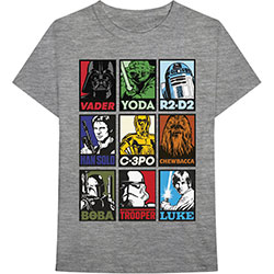 Star Wars Unisex Tee: Character Squares