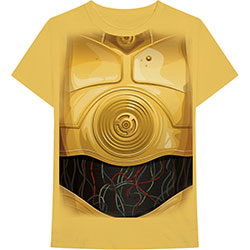 Star Wars Unisex Tee: C-3PO Chest