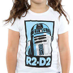 Star Wars Kids Girl's Fit Tee: R2-D2 Poster (9 - 11 Years)