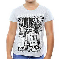 Star Wars Kids Girl's Fit Tee: R2-D2 and C-3PO Rock Poster (12 - 13 Years)