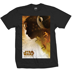 Star Wars Unisex Tee: Rogue One Jyn Silhouette