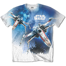 Star Wars Men's Tee: Rogue One X-Wing (Sublimation Print)