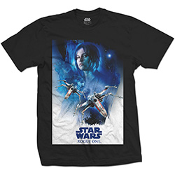 Star Wars Unisex Tee: Rogue One Jyn X-Wing 01