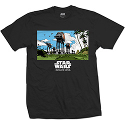 Star Wars Unisex Tee: Rogue One AT-AT March