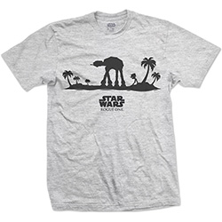 Star Wars Unisex Tee: Rogue One AT-AT Silhouette Line Art