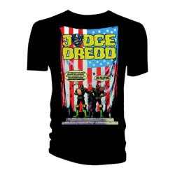 2000 AD Unisex Tee: Judge Dredd US Flag - Crimes Against America