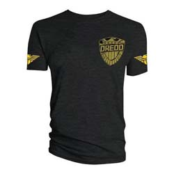2000 AD Unisex Tee: Judge Dredd Uniform - Gold Badge