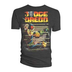 2000 AD Unisex Tee: Judge Dredd Gunfire Bolland