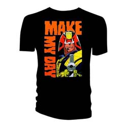 2000 AD Men's Tee: Judge Dredd Make My Day