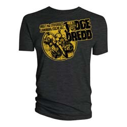 2000 AD Unisex Tee: Judge Dredd - Toughest Lawman of them all