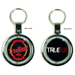 True Blood Premium Keychain: Bottle Label (Spinner)