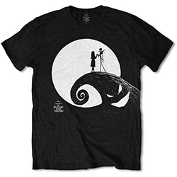 Disney Unisex Tee: The Nightmare Before Christmas Moon
