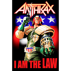 Anthrax Textile Poster: I Am The Law