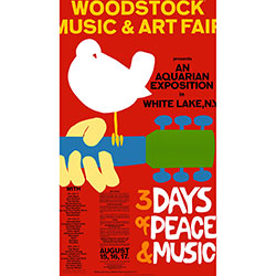 Woodstock Textile Poster: 3 Days Of Peace & Music