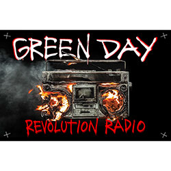 Green Day Textile Poster: Revolution Radio
