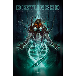 Disturbed Textile Poster: Evolution